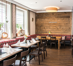 Lieblingsplatz in der Gaststube in Restaurant Miesberg